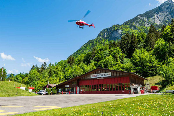 Heliport Gsteigwiler bei Interlaken