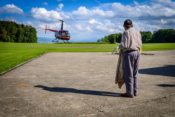 Helikopter seöber fliegen