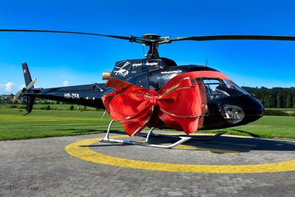 Geschenk für Helikopterflug