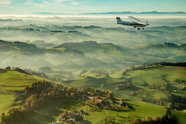 Rundflug Flugzeugflug