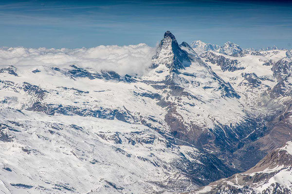 Matterhorn bei einem Helikopterflug