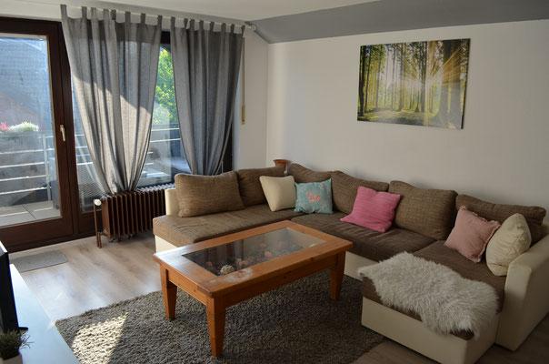 Couch/Schlafcouch im Wohnzimmer