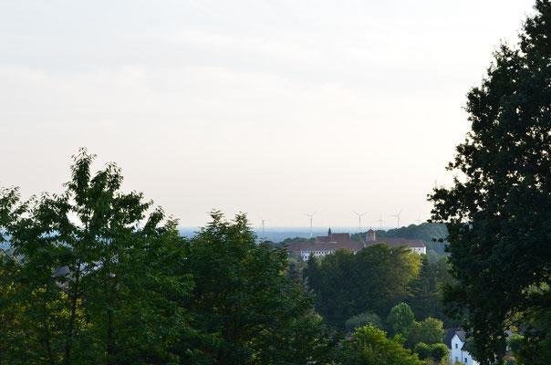 Das Iburger Schloss von hoch oben