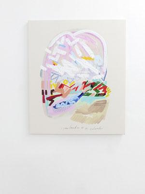 jawbreaker columbus, 2018, Öl- und Acrylfarbe auf Leinwand, 95 x 80 cm, Privatbesitz (oil and acrylic on canvas, 37 1/2 x 31 1/2 in., private property)
