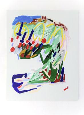 crimewave, 2018, Öl- und Acrylfarbe auf Leinwand, 125 x 100 cm (oil and acrylic on canvas, 49 1/4 x 39 1/2 in.)