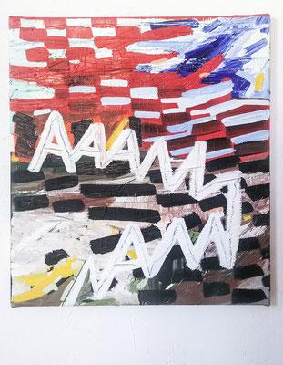 aaa specific gravity, 2020, Ölfarbe auf Leinwand, 65 x 55 cm (oil on canvas, 25 1/2 x 21 1/2 in.)
