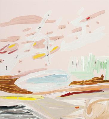 zind, 2016, Öl- und Acrylfarbe auf Leinwand, 50 x 50 cm