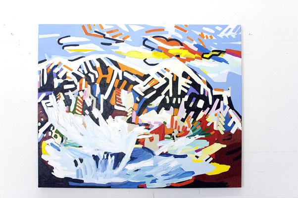 .wave, 2019, Ölfarbe auf Leinwand, 90 x 113 cm (oil on canvas, 35 1/2 x 44 in.)