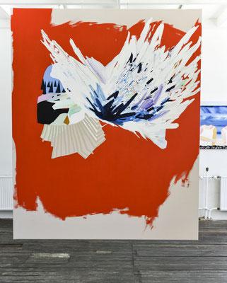 solid wave, 2019, Öl- und Acrylfarbe auf Leinwand, 165 x 135 cm (oil and acrylic on canvas, 65 x 53 in.)