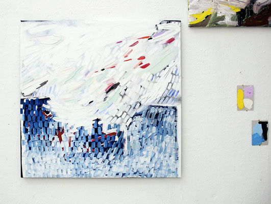 softpower, 2017, Ölfarbe auf Leinwand, 94 x 92 cm (oil on canvas, 37 x 36 1/4 in.)