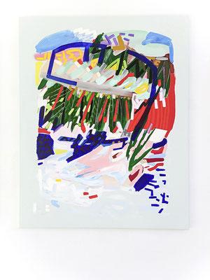power ranger, 2018, Öl- und Acrylfarbe auf Leinwand, 125 x 100 cm (oil and acrylic on canvas, 49 1/4 x 39 1/2 in.)