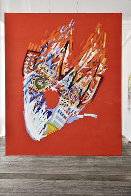wingman, 2019, Öl- und Acrylfarbe auf Leinwand, 165 x 135 cm (oil and acrylic on canvas, 65 x 53 in.)