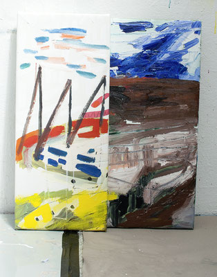 feit, 2017, Öl- und Acrylfarbe auf Leinwand, 66 x 55 cm