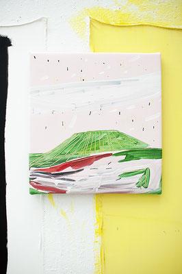 mien, 2016, Öl- und Acrylfarbe auf Leinwand, 55 x 45 cm, Privatbesitz