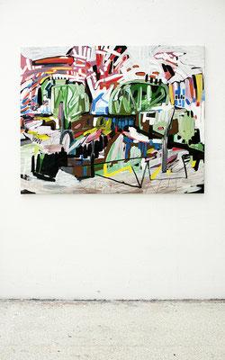 hagen, 2016, Öl- und Acrylfarbe auf Leinwand, 110 x 135 cm