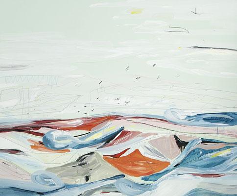 minz, 2016, Öl- und Acrylfarbe auf Leinwand, 110 x 135 cm -  Privatbesitz