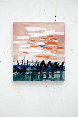 havv, 2017, Ölfarbe auf Leinwand, 40 x 35 cm (oil on canvas, 15 1/2 x 13 1/2 in.)
