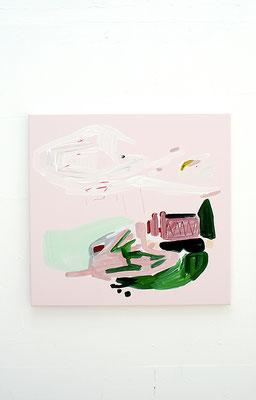 mindi, 2016, Öl- und Acrylfarbe auf Leinwand, 70 x 70 cm (acrylic on canvas, 27 1/2 x 27 1/2 in.)