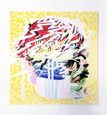cry me a river, 2020, Ölfarbe auf Leinwand, 120 x 110 cm (oil on canvas, 47 x 43 in.)