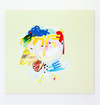 mi lai, 2020, Öl- und Acrylfarbe auf Leinwand, 85 x 90 cm