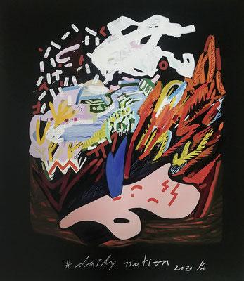 daily nation, 2020, Ölfarbe auf Leinwand, 95 x 80 cm