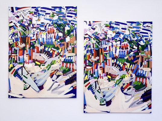 haag, 2017, Öl- und Acrylfarbe auf Leinwand, 280 x 200 cm