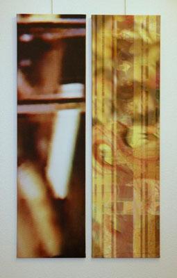 untitled 2009 (2 parts) Inkjet-Print on Canvas. Size: 2x 130 x 35 cm