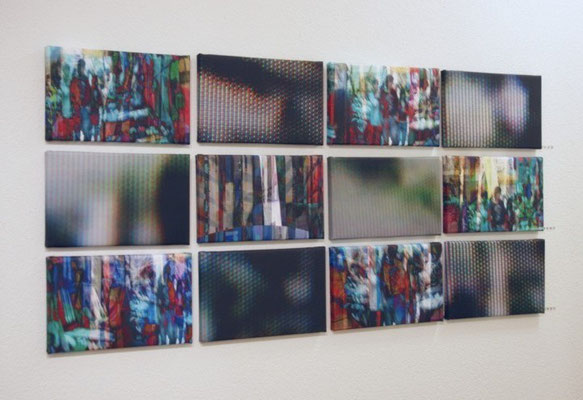 untitled 2009 (12 single parts) Inkjet-Print on Canvas. Size: 12x 20 x 37 cm (some are in private possession)