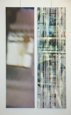 untitled 2009 (2 or 3 parts). Inkjet-Print on Canvas. Size: 2x 130 x 35 cm and 130 x 27 cm
