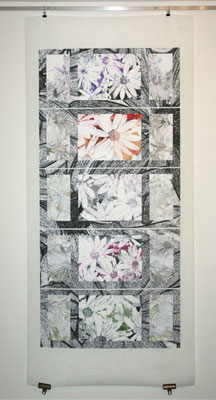 Variation of Summer Flowers, 2011. Inkjet-Print on Adhesive Matt Vinyl fixed on drop paper. Size: 194 x 86 cm