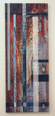 untitled 2009. Inkjet-Print on Canvas. Size: 90 x 35 cm