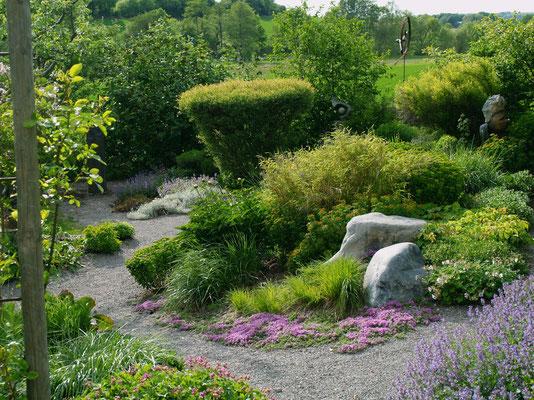 Der Garten - Blick in unverbauten Landschaft