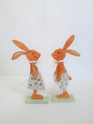 Hasenpaar Bub und Mädchen 19,5x8,5 cm
