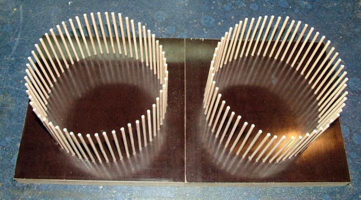 Korbspulen Fertig bestückt mit 3mm Holzstäbchen