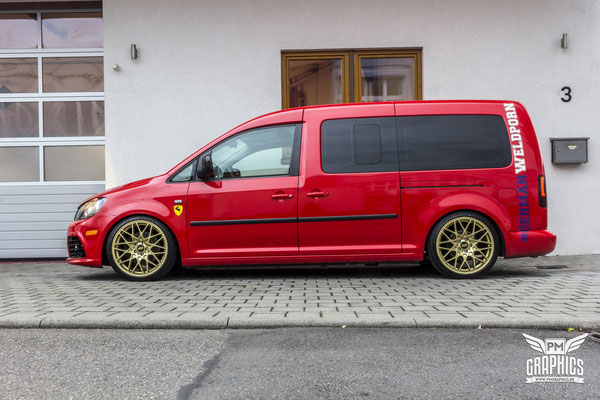 vw caddy maxi cardinal red premium wrapping. Black Bedroom Furniture Sets. Home Design Ideas