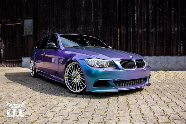 bmw 3er e91 lavender shift premium wrapping. Black Bedroom Furniture Sets. Home Design Ideas