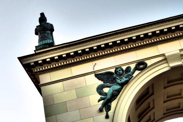 Ein Tor in der Nähe des Dianatempels in München 19. Dezember 2015