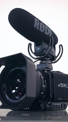 Meine neuste Videokamera; Sony FDR-AX100E mit Rode VideoMic Pro Rycote