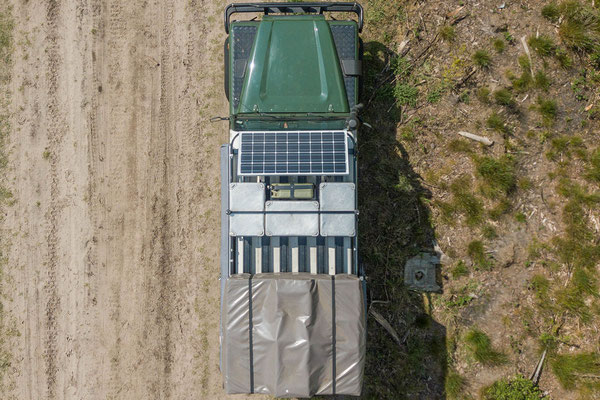 Land Rover Defender Camper top view