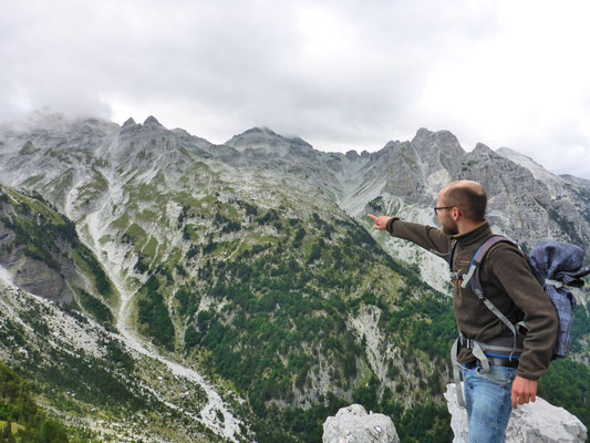 Looking over the Valbona Valley in Albania