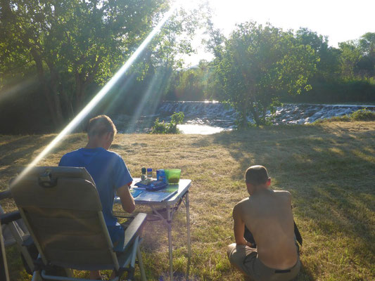 Camping in the wild in Croatia
