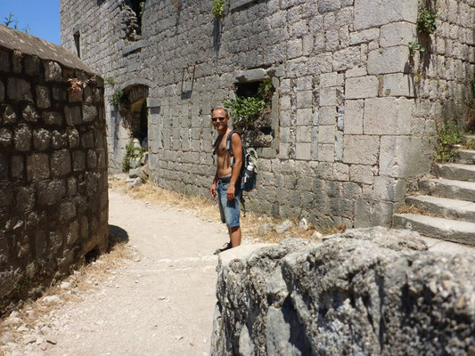 Damn it was hot during the hike to the castle of Kotor, Montenegro