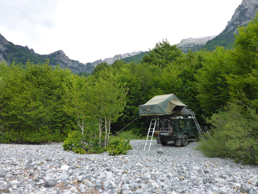 Camping in the Valbona Valley, Albania