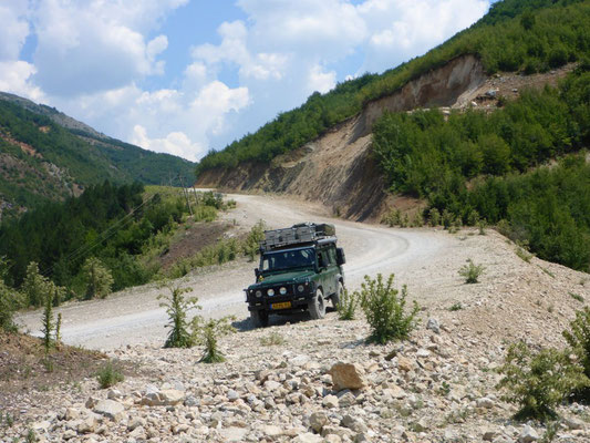 The highway through Eastern Albania