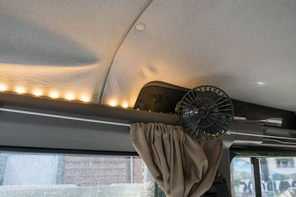 LED interior lights and small 12V fan