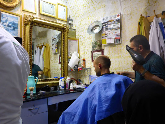 The Turkish barber at the Grand Bazaar in Istanbul