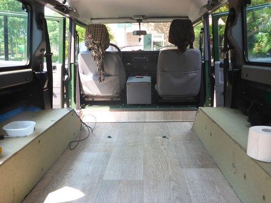 Defender Camper Interior Rafiki On Tour Discover The World