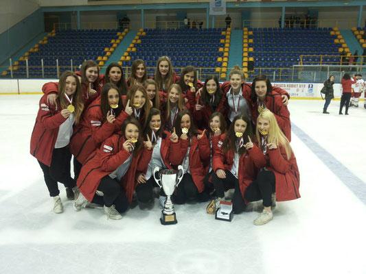 U18 Damen Eishockey Nationalmannschaft Österreich - Meister