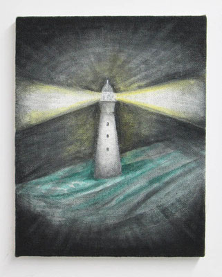 Lighthouse  40.9 × 31.8 cm  oil on canvas
