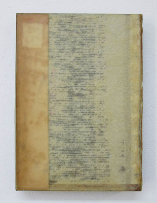 MELANCOLIA  2018  本・蜜蝋:book・wax  h. 21.0 × w. 15.0 × d. 2.8 cm